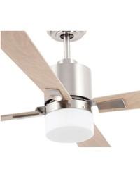 Ventilatore da soffitto con luce con pale in legno - Faro PALK