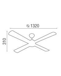 Ventilatore da soffitto color ruggine - Faro disegno IBIZA