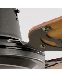 Ventilatore da soffitto colore grigio scuro con regolatore - Faro disegno MALVINAS