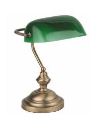Lampada da tavolo E27 in metallo e cristallo color bronzo - BANKER