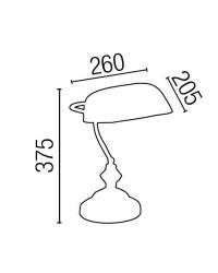 Lampada da tavolo E27 in metallo e cristallo color oro vecchio - BANKER