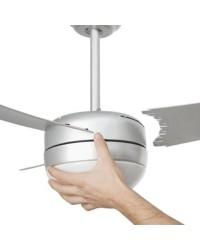 Ventilatore da soffitto color grigio con luce e telecomando - Faro disegno EASY