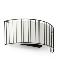 Lampada applique E27 in acciaio e tela color nero - LINDA