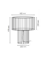 Lampada da tavolo E27 in acciaio e tessile color bianco - LINDA