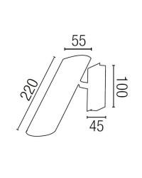 Faretto applique GU10 da parete in acciaio color bianco - LINK