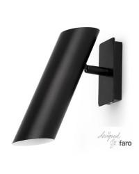 Faretto applique GU10 da parete in acciaio color nero - LINK