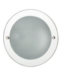 Lampada a incasso E27 da bagno in metallo e vetro a specchio - EVA-1P