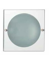 Lampada a incasso 165x165mm E27 da bagno in metallo e vetro a specchio - EVA-2P