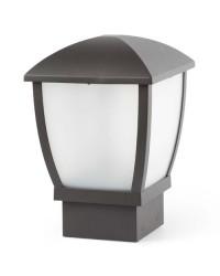 Lanterna sopra muro E27 da giardino esterno in alluminio color grigio scuro - WILMA
