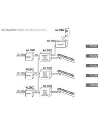 Controllatore LED RGB Slave 24V 72W