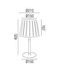 Lampada da tavolo E14 in metallo e legno color bianco - MIX