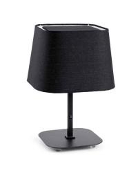 Lampada da tavolo E27 in metallo e tessile color nero - SWEET