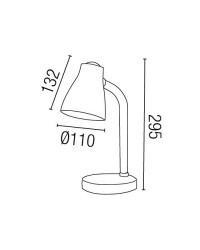 Lampada da scrivania E27 in ABS color arancione - BOB