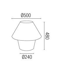 Lampada E27 portatile da giardino in polietileno bianco - VERSUS
