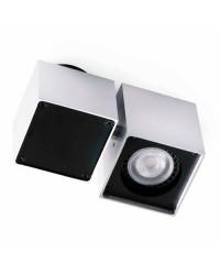 Lampada gu10 da soffitto in alluminio e acciaio - SQUAD-1