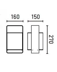 Lampada da tavolo 270mm, nero + bianco - LULA