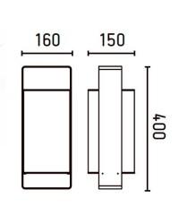 Lampada da tavolo 400mm, bianco - LULA
