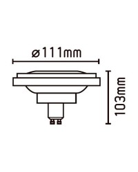 Lampadina LED AR111,GU10, 15W 750LM 2700K - Dimmerabile