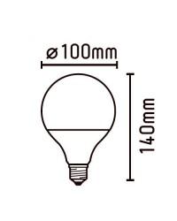 Lampadina LED Globo E27 9W 790LM 2700K