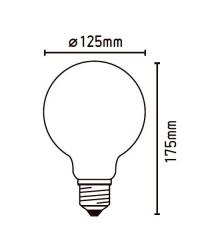 Lampadina LED Globo E27 4W 470LM 2700K - Filamento