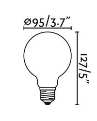 Lampadina LED E27 Globo Filamento 4W 350lm 2200K Ambra