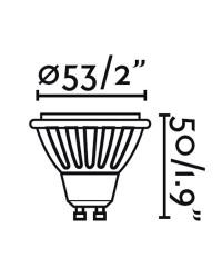 Lampadina LED GU10 8W 480lm 4000K 38º