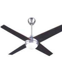 Ventilatore da soffitto con luce e telecomando color nichel satinato - HAWAI