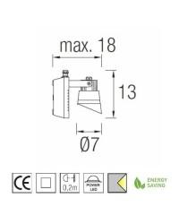 Faro proiettore LED 564LM 4200K alluminio color grigio urbano