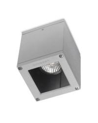 Plafoniera da esterno GU10 35W in alluminio e vetro color grigio - AFRODITA