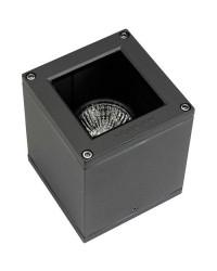 Plafoniera da esterno GU10 35W in alluminio e vetro color grigio scuro - AFRODITA