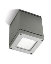 Plafoniera da esterno PAR30 E27 75W in alluminio e vetro color grigio - AFRODITA