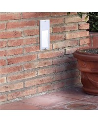 Lampada LED a incasso da parete esteriore grigio - MICENAS