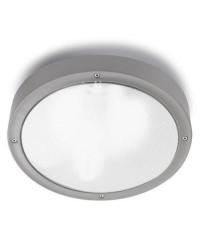 Plafoniera da esterno grigio Ø26cm - BASIC