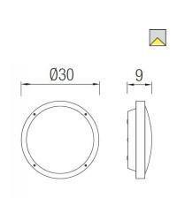 Plafoniera da esterno grigio Ø30cm - BASIC