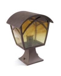 Lampada sopra-muro da esterno color ruggine - ALBA