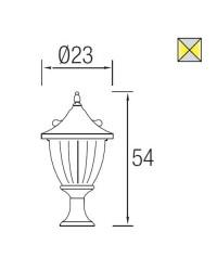 Lanterna sopra-muro da esterno ruggine - GALATEA