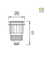 Lampada LED Ø6cm per piscina IP68 color bianco - AQUA