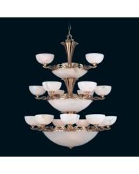 Lampada d'alabastro a sospensione 27 luci - PHILADELPHIA