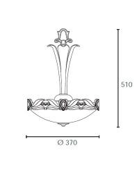 Lampada d'alabastro a sospensione 3 luci - PHILADELPHIA