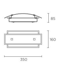 Applique da parete, 350mm, cromo - PRACTIC