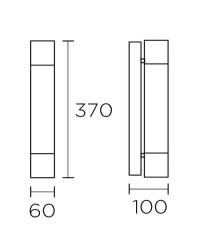 Applique da bagno, 370mm, cromo - DRESDE