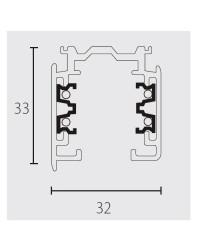 Binario trifasico 1000mm, grigio