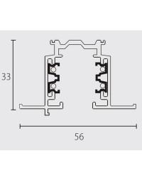 Binario trifasico a incasso 2000mm, grigio