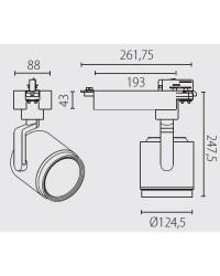 Proiettore a binario QR111 G53 bianco