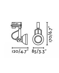 Riflettori a binario grigio Faro RING