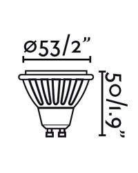 Lampadina LED GU10 8W 500lm 2700K 60º