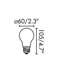 Lampadina LED E27 filamento 4W 470lm 2700K