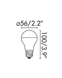 Lampadina LED a specchio E27 4W 330lm 2700K 280º