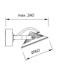 Faro LED 9W 605lm 3000K Leds-C4 SKADE grigio