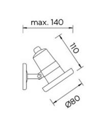 Faretto LED 5W 663lm 4000K 25º Leds-C4 AQUA acciaio inox 316